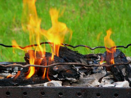 Free Stock Photo of Fire grill