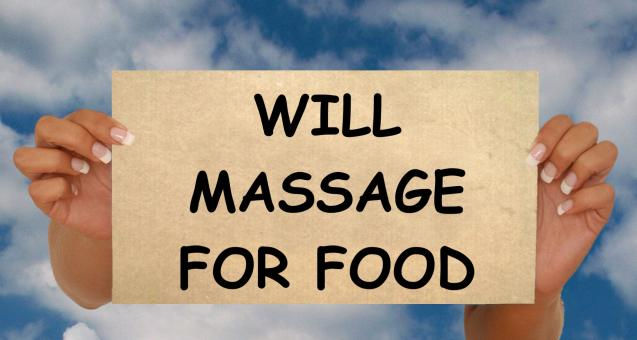 Free Stock Photo of Massage for Food