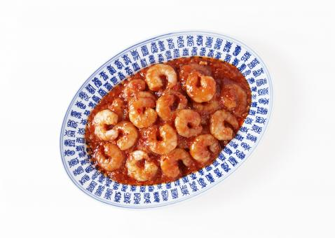 Free Stock Photo of Shrimps in Sauce