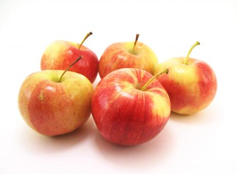 Free Stock Photo of Five apples