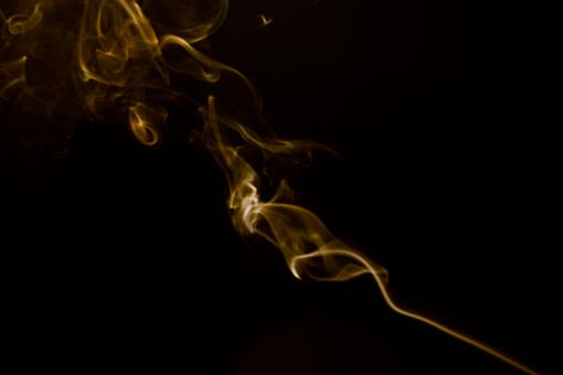 Free Stock Photo of Yellow Abstract Smoke Swirl