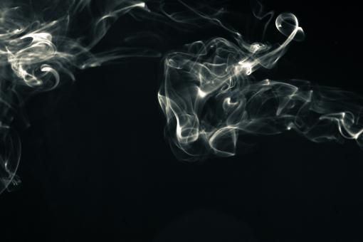 Free Stock Photo of Abstract Cigarette Smoke on Black