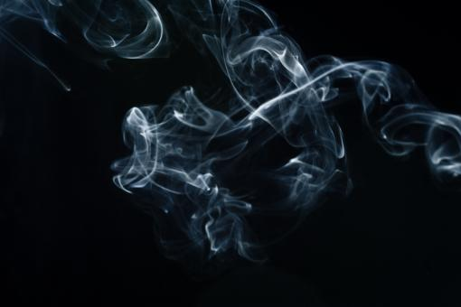 Free Stock Photo of Swirly Abstract Blue Smoke