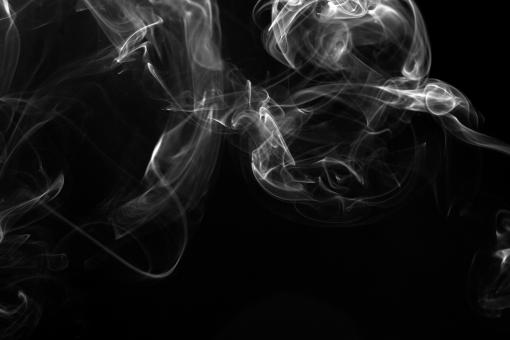 Free Stock Photo of Abstract Smoke on Black