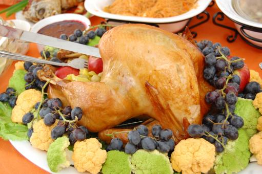 Free Stock Photo of Thanksgiving dinner