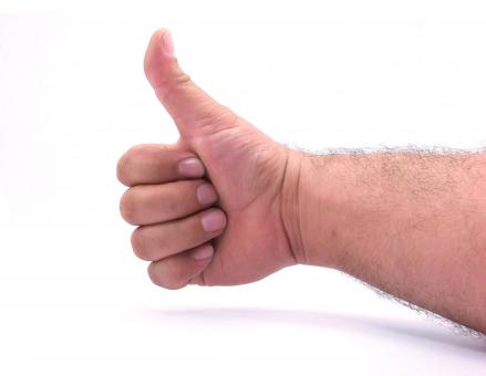 Free Stock Photo of Thumbs Up - Isolated on White Background
