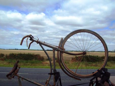 Free Stock Photo of Pre war Somme Bicycle -  Ashburton Airpo