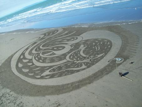 Free Stock Photo of Sand painting
