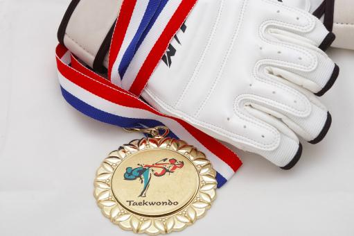Free Stock Photo of Gold medal - Taekwondo