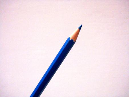 Free Stock Photo of Blue Pencil