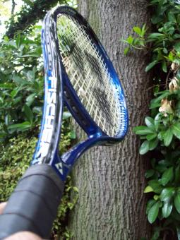 Free Stock Photo of Blue Tennis Racket