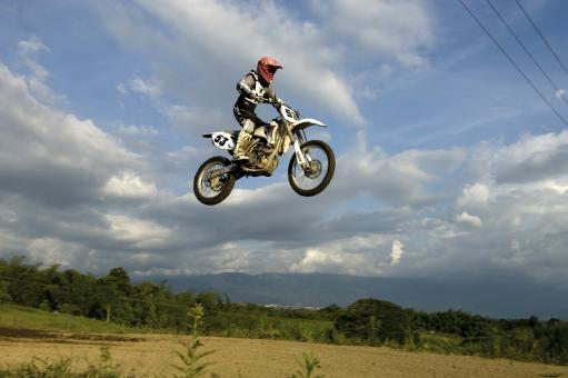 Free Stock Photo of Motocross - Mid-air