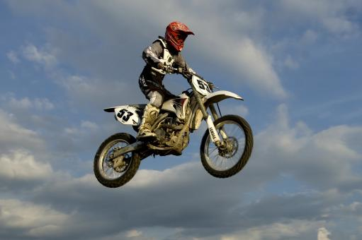 Free Stock Photo of Motocross Rider in Mid-air