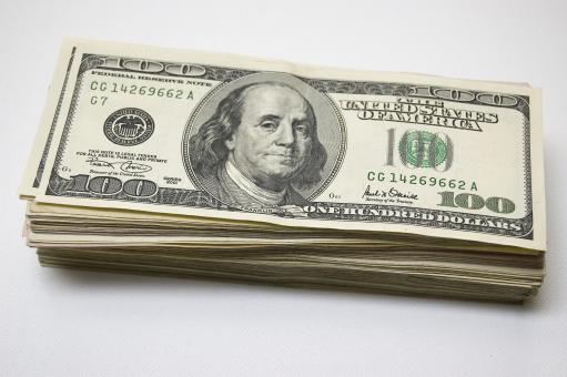 Free Stock Photo of 100 dollar bills
