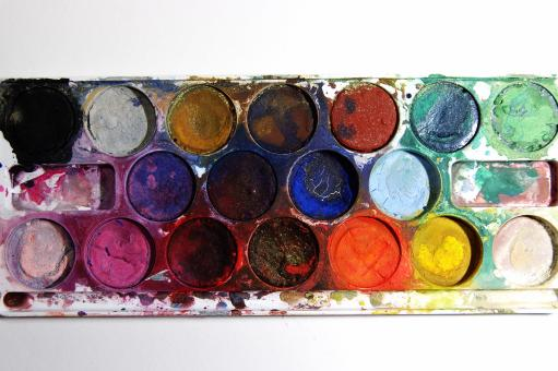 Free Stock Photo of Used watercolors