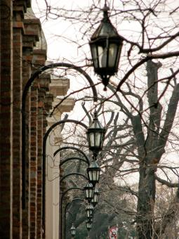 Free Stock Photo of Street colonial lamps