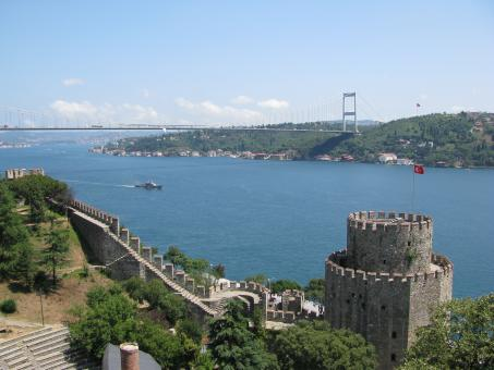 Free Stock Photo of Istanbul-Bosphorus and fortress -Rumeli