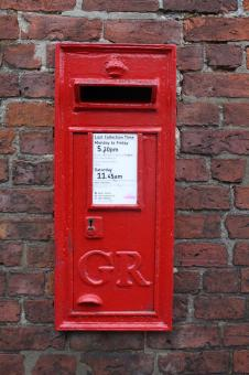 Free Stock Photo of Red Post Box