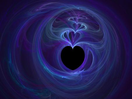 Free Stock Photo of Purple and Blue Heartfractal