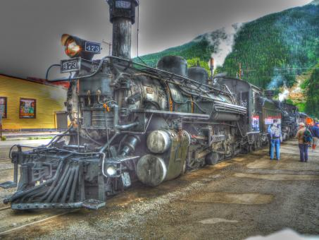 Free Stock Photo of Durango-Silverton Train