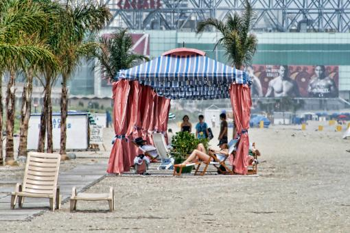 Free Stock Photo of Gazebos in Atlantic City