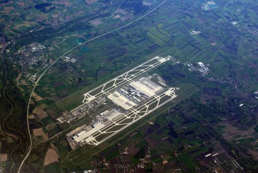 Free Stock Photo of Munich Airport Aerial View