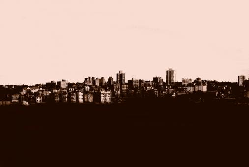 Free Stock Photo of Cityscape Silhouette
