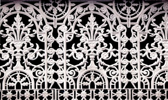 Free Stock Photo of Wrought Iron Fence