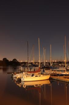 Free Stock Photo of Frenchmans Bay at night