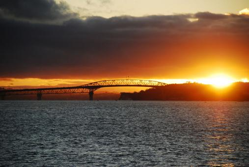 Free Stock Photo of Auckland Harbour Bridge