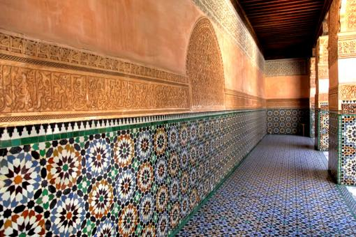 Free Stock Photo of Arabic Wall Design