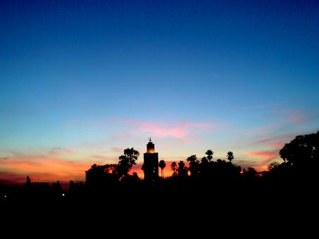 Free Stock Photo of Sunset in Marrakech