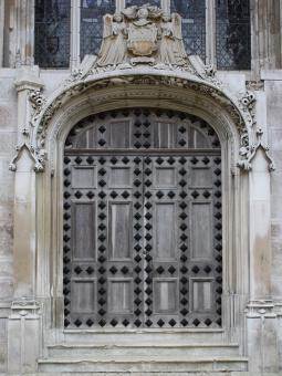 Free Stock Photo of Ornate Medieval Door.
