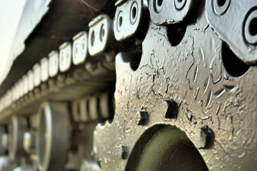 Free Stock Photo of Army Tank Sprocket
