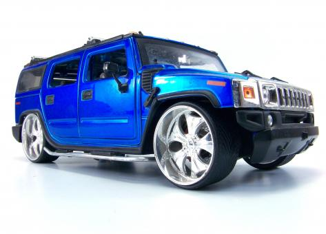 Free Stock Photo of Blue hummer toy