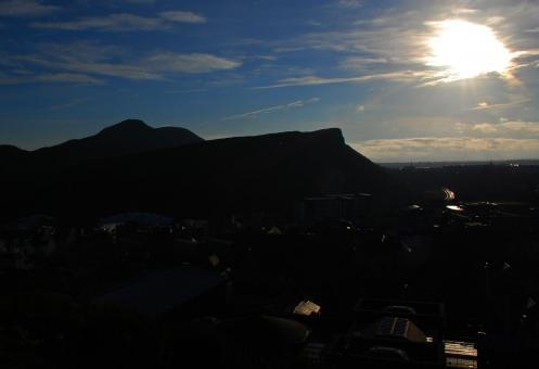 Free Stock Photo of Arthurs Seat Silhouette