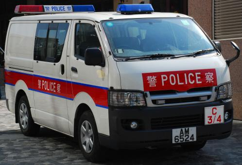 Free Stock Photo of Hong Kong Police Van