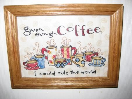 Free Stock Photo of Coffee Cross-stitch