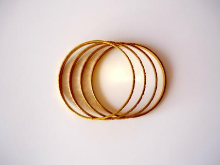 Free Stock Photo of Gold Bangles