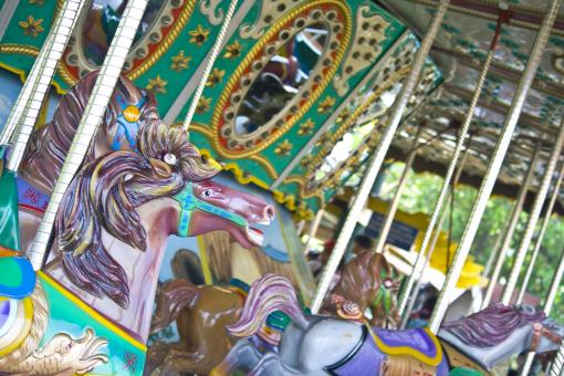 Free Stock Photo of Carousel Theme Park