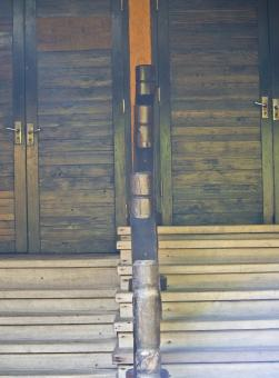 Free Stock Photo of Wooden Exotic Door