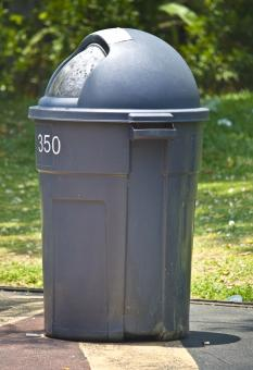 Free Stock Photo of Grey Dust Bin