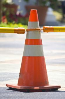 Free Stock Photo of Singgle Traffic Cone