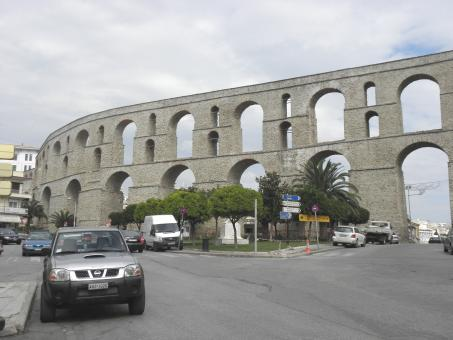 Free Stock Photo of Aqueduct in Kavala, Greece