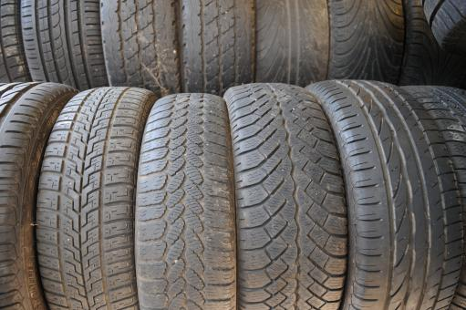 Free Stock Photo of Stack of tires