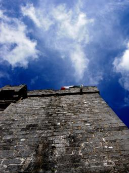 Free Stock Photo of Castle Wall - Flag