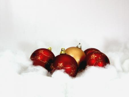 Free Stock Photo of Red christmas balls
