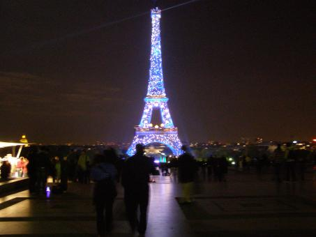 Free Stock Photo of Paris, Effiel Tower - Lighted up