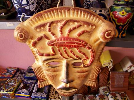 Free Stock Photo of Mexican craft mask