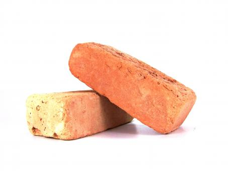 Free Stock Photo of Red brick on a white background